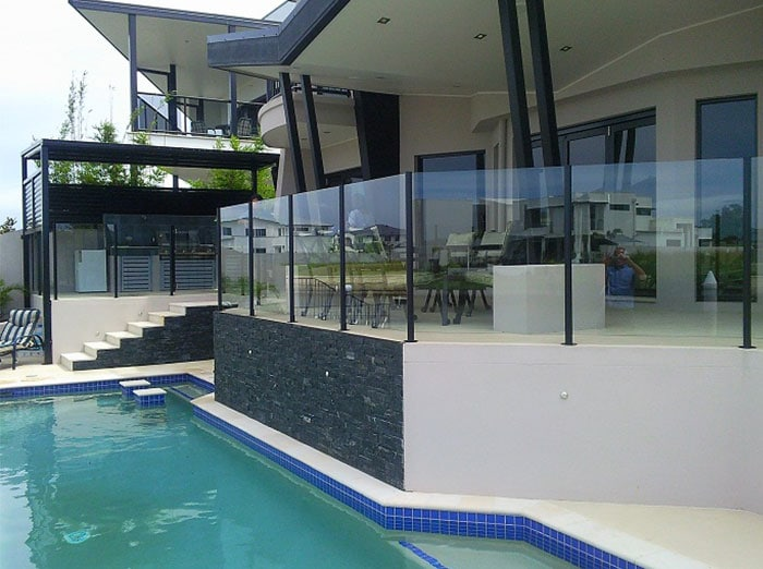 mermaid semi frameless fencing