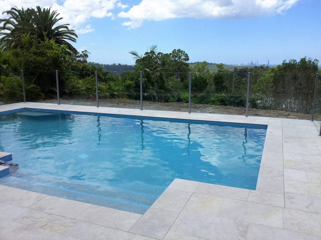 cleaning pool fence