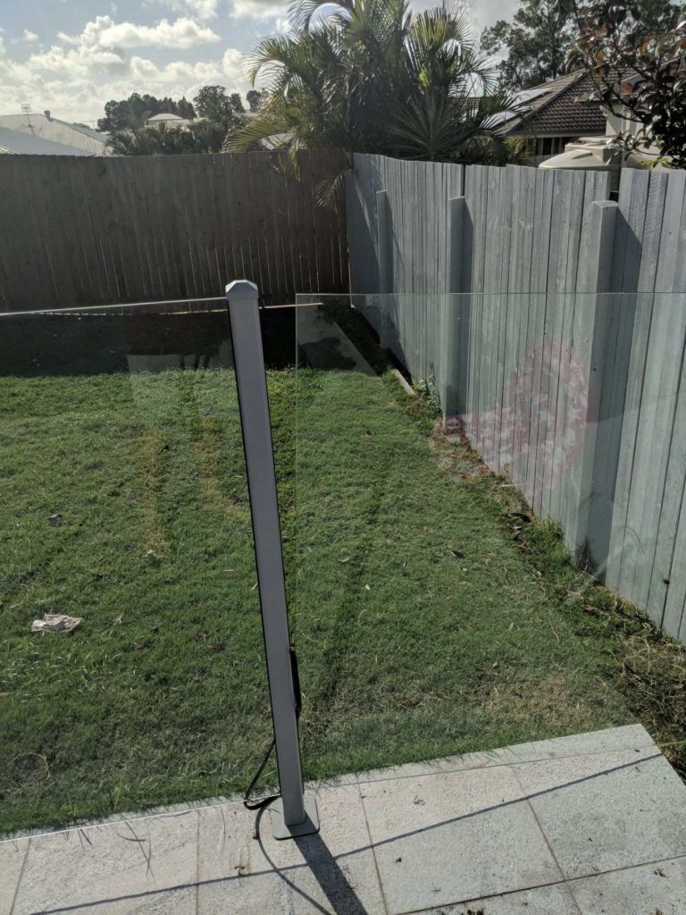 glass fence repair