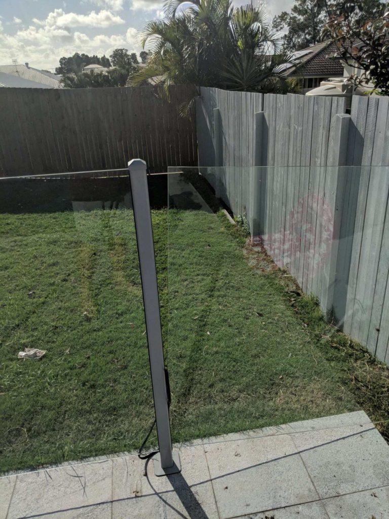 glass fence repair