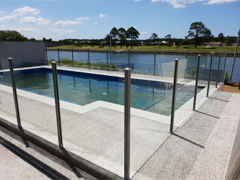 semi frameless pool fencing gold coast